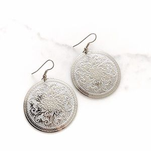 Lightweight Floral Plated Earrings